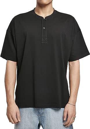 Urban Classics Men's Oversized Henley Tee T-Shirt
