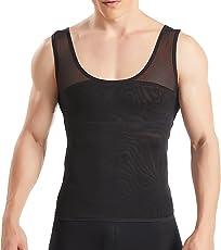 HANERDUN Kompressions unterwäsche Herren Tanktop Figurformendes Unterhemd für Männer Sport Fitness Bodyshaper