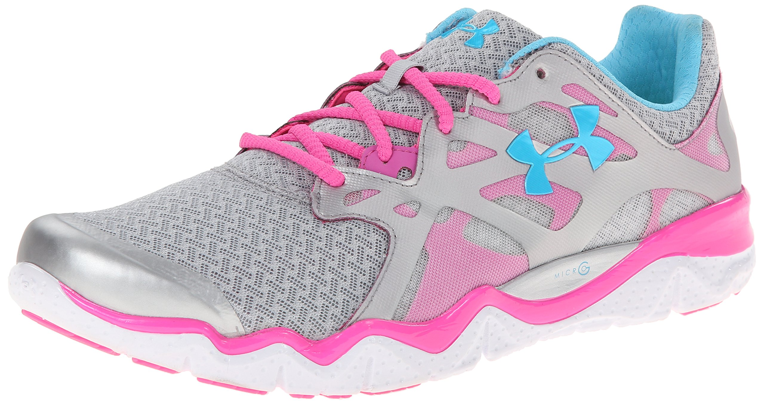 Under-Armour-Womens-Micro-G-Monza-Nm-Running-Shoes-Metallic-SilverPinkadelicPirate-Blue-12-B-Me