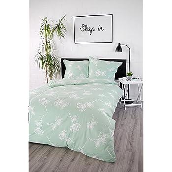 fb02c800d7 jilda-tex Bettwäsche 100% Baumwolle Design Daisy 135x200 cm mit Reißverschluss  Bettbezug