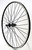 Vuelta 26 Zoll Fahrrad Laufrad Hinterrad Hohlkammerfelge CUT19 Shimano Deore 610 schwarz 8/9/10-fach für V-Brakes/Felgenbremse