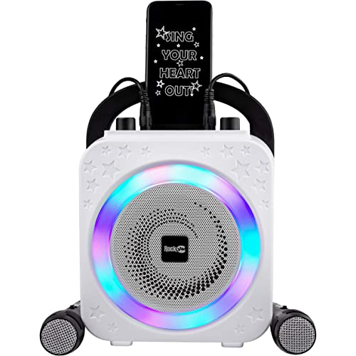 RockJam Party Macchina per Karaoke con Bluetooth, Altoparlante da 10 Watt e Due Microfoni, Nero