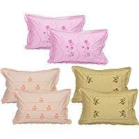 Rj Products Cotton 100TC Pillow Cover (Standard_Multicolour)