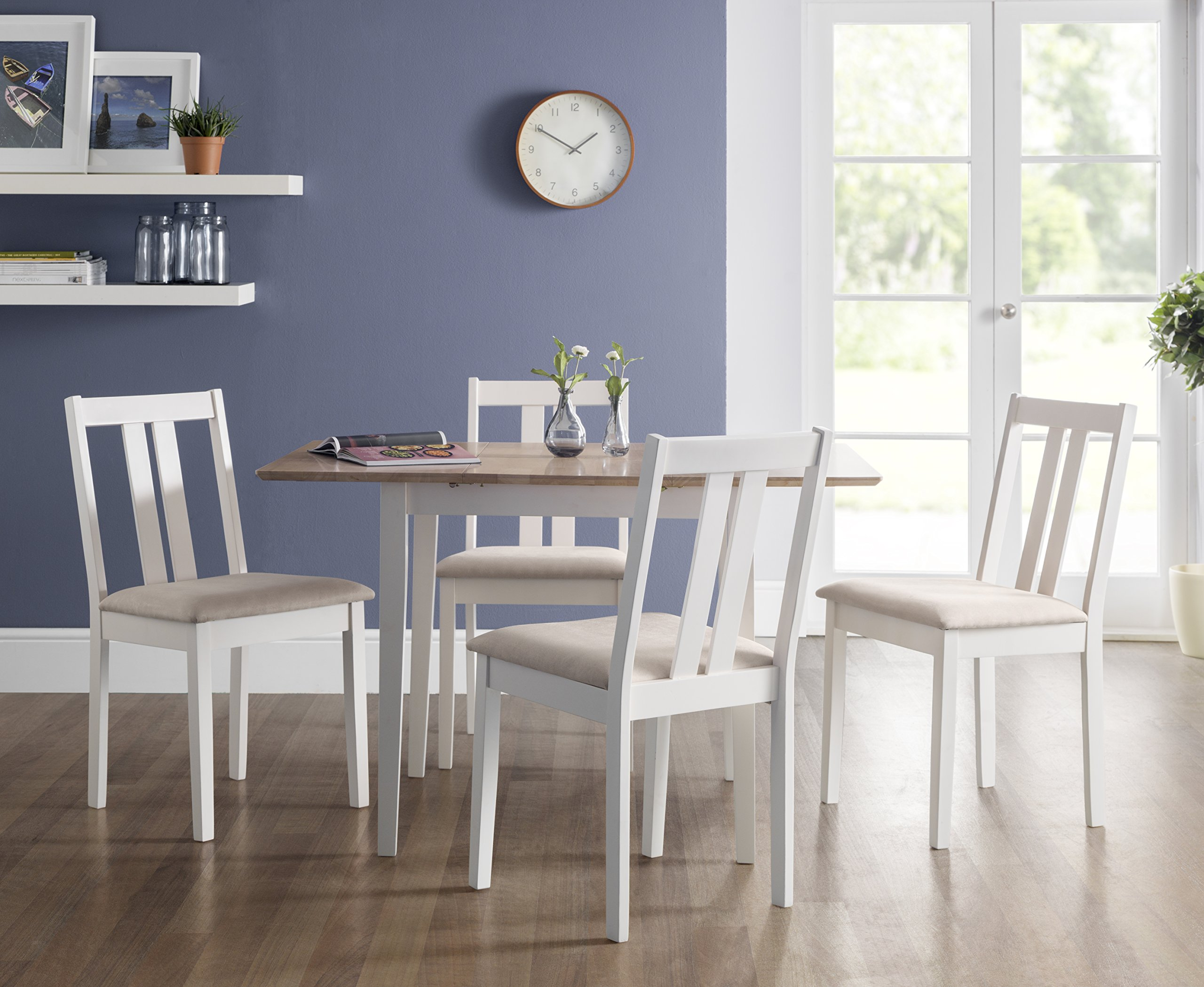 Julian Bowen Rufford Set of 2 Dining Chairs, Ivory