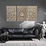 Rectangular Wall Panel, Wall Hanging Panel, Wall Decoration Panel or Frame with Size 4x2 feet in Antique White Gold Color