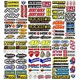 MAS DI VITALE MARIA ditta individuale Adesivi Moto Sponsor 113 Pz Sticker Motocross Grafiche Bici MTB Computer Motorino…