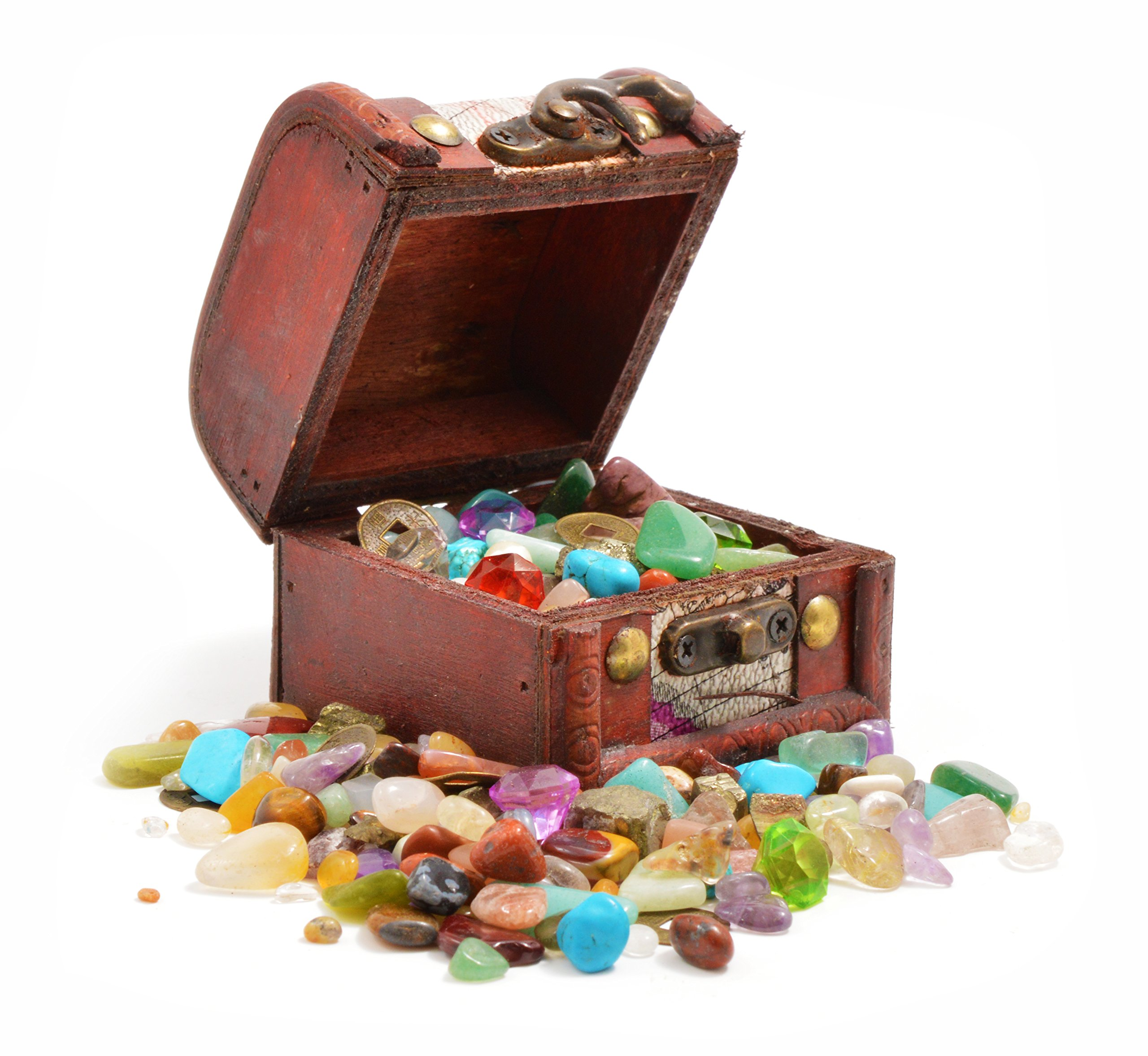 Toys And Treasures : Pirates treasure chest crammed w gemstones pearls and