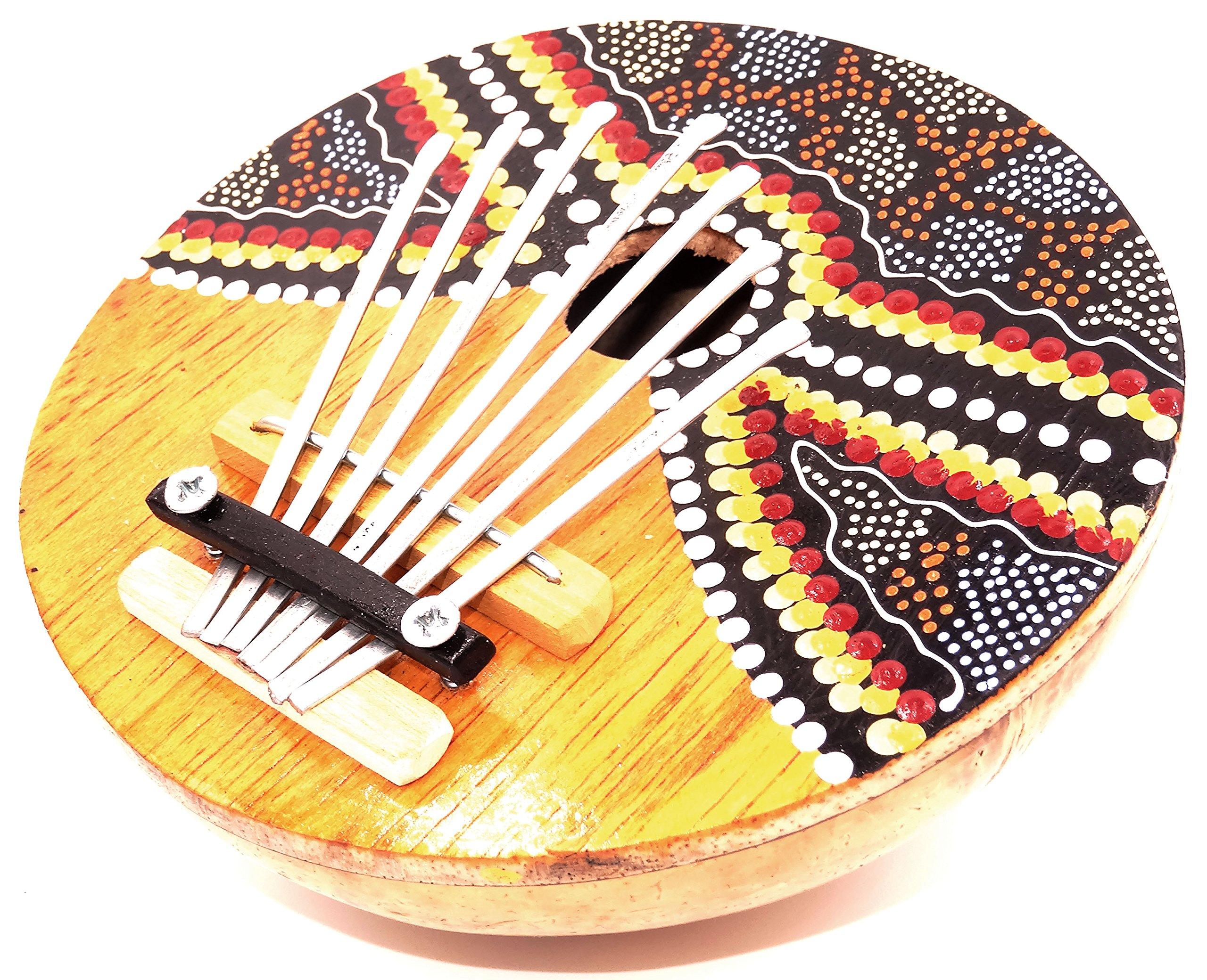 Karimba Kalimba Chitarra Pianoforte a pollice Sanza Cocco strumento musica Aborigeno da parati Finge