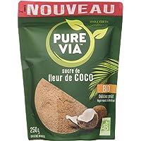 Pure Via Doypack Sucre de Fluer de Coco Bio Issu de L'Agriculture Biologique Origine Idonésie, 250g