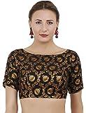 Figureup printed jacquard readymade blouse single piece
