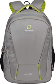 MURANO Polyester 32 Ltr Grey Laptop Backpack