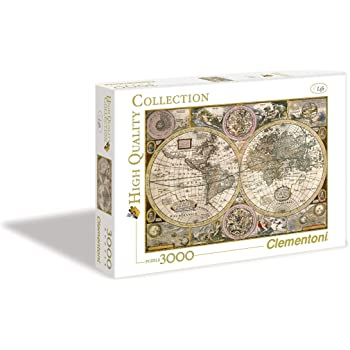 Clementoni - 33531 - High Quality Collection Puzzle - Mappa antica - 3000 Pezzi