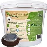 l'herbe Haute ® Terre de Diatomée Blanche Alimentaire - 5 kg Seau avec souffleuse - Utilisable en Agriculture Biologique - Or