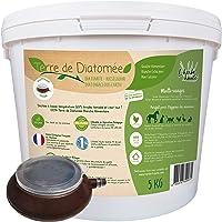 l'herbe Haute ® Terre de Diatomée Blanche Alimentaire - 5 kg Seau avec souffleuse - Utilisable en Agriculture Biologique…