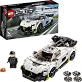 LEGO 76900 Speed Champions Koenigsegg Jesko Racing Sports Car Toy with Driver Minifigure, Racer Model Set for Kids, New 2021