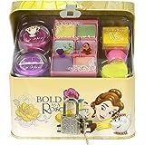 Markwins Zauberhafte Beauty-Geschenk-Truhe mit Schloss und Schminke, 1er Pack (abziehbarer Nagellack, Lidschatten, Lipgloss, Glitter-Puder)