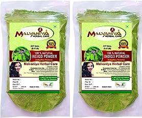 Malvaniya Herbal Care Indigo Powder Herbal Natural Hair Colour Dye, 227g ( Pack Of 2 )