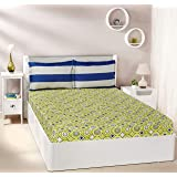 Amazon Brand - Solimo Bubble Bounty 144 TC 100% Cotton Double Bedsheet with 2 Pillow Covers, Green