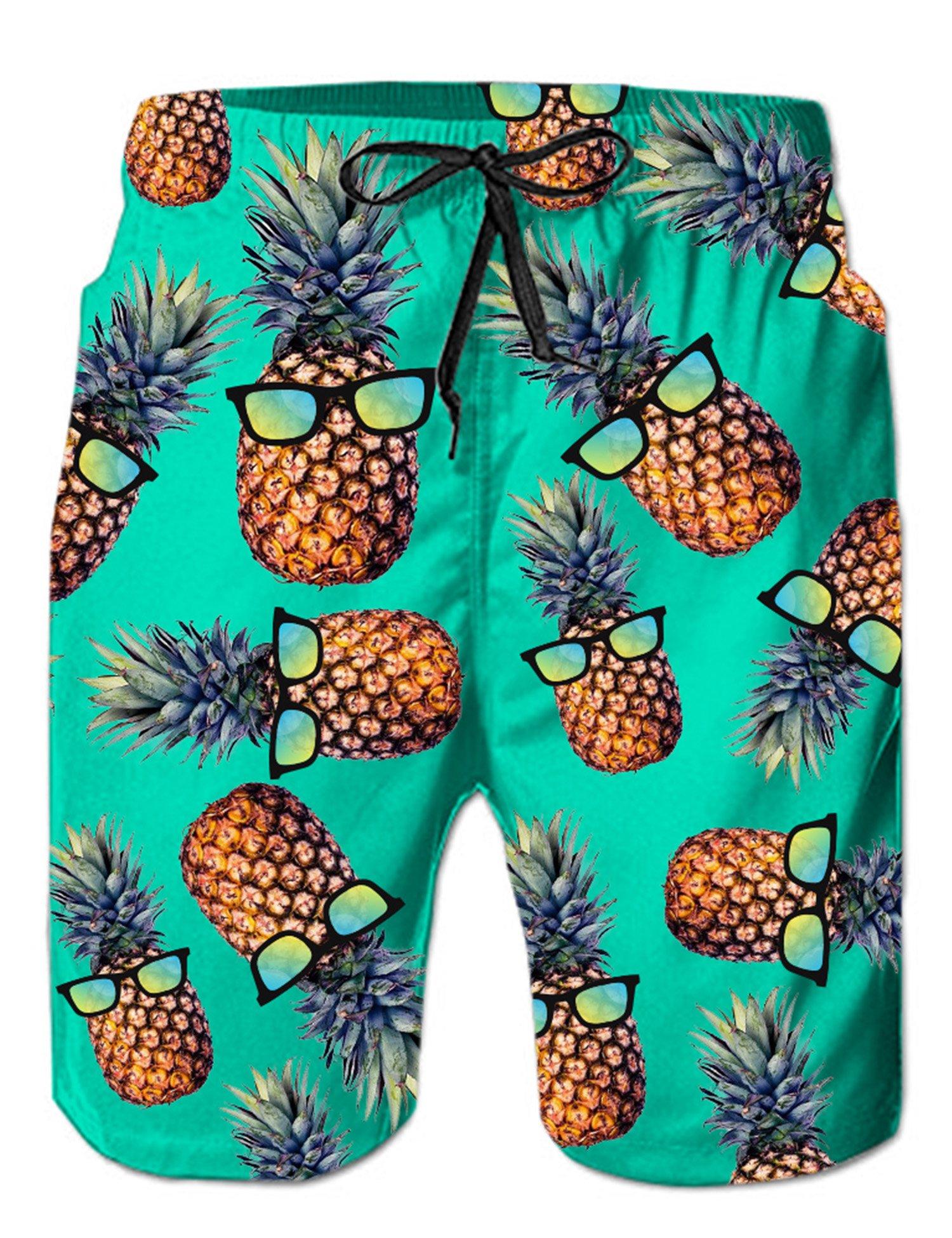 taglia 40 8c61e 6b546 Loveternal Uomo Costume da Bagno Quick Dry Pantaloncini da Spiaggia  Stampato Swim Trunks - FACESHOPPING