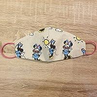 Mascherina artigianale bambini lavabile topolina Minnie mouse cotone con tasca per filtro maschera protezione facciale