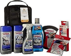 SONAX XTREME Autopflege Set inkl. Tasche (8-teilig); Autoreinigungs- und Pflegeset für den Fahrzeug-Außenbereich (für Lack und Felgen)   Art-Nr. 07615410