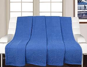 Saral Home Soft Cotton Multi Purpose Throw/ Sofa Cover- 140x170 cm