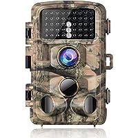 """Campark Wildkamera 16MP Full HD 1080P Jagd Kamera Wasserdicht Gartenkamera 120° Weitwinkel Vision Überwachungskamera 2.4"""" LCD 42pcs Low Glow 20m Nachtsicht mit Bewegungsmelder IP56"""