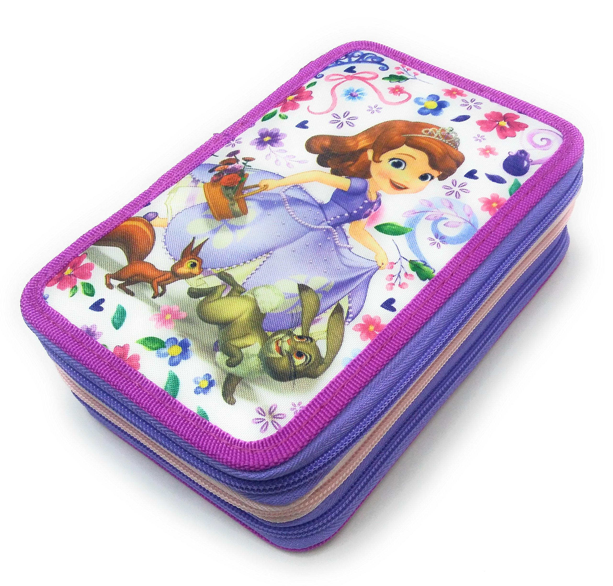Disney – Disney WD16015 Plumier Triple Princesa Sofía