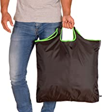 gripONE Shopper - Faltbare Einkaufstasche aus Hochwertiger Fallschirmseide, dadurch extrem robust, leicht und kompakt