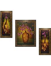 Indianara 3 PC Set of Floral Paintings