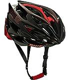 AWE AWESpeed™ In-Mould Helm Erwachsene Männer Straßen-Radsport 58-61cm Schwarz-rot-Carbon