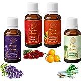 Precious Aromas Essential Oil - lavender Oil, Rose Oil,Mandarin Oil, Lemongrass Oil (Pack of 4)