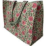 Awdhesh Kumar Craftmark Handmade Women's Tote Bag (Multi-Coloured, AWDToteBag001)