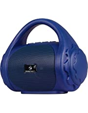 Zebronics Zeb-County Bluetooth Speaker with Built-in FM Radio, Aux Input and Call Function (Blue)