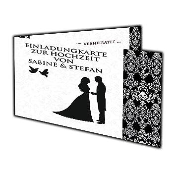 Einladungskarten Hochzeit Edel U0026 Elegant Hochzeitseinladung Einladung 40  Stück