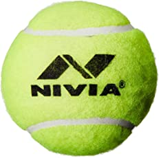 Nivia 3818 Heavy Weight Rubber Tennis Ball (Yellow)