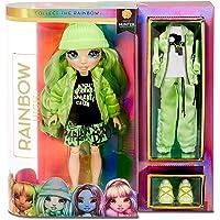 Rainbow High Poupée mannequin. Jade Hunter. Poupée thème vert avec des tenues de luxe, des accessoires et un socle de…