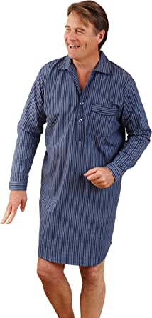 2 Pack of Mens Champion Brushed Cotton Nightshirt Sleepwear