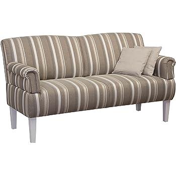 CAVADORE 3-Sitzer Sofa Pasle mit Federkern für Küche, Esszimmer ...