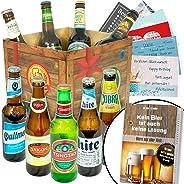 BIERE DER Welt Geschenk Box M?nner + inkl Bierbuch + inkl Geschenkkarten + Bier Geschenke + Geburtstags Geschenke