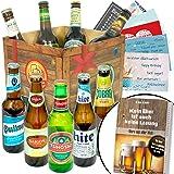 BIERE DER Welt Geschenk Box für Männer + gratis Bierbuch