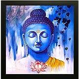 SAF Buddha Vastu UV Coated Home Decorative Gift Item Framed Painting 12 inch X 12 inch SANF1000014