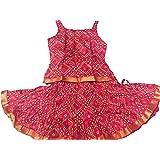 Anchal collection Girls' Cotton Lehenga Choli
