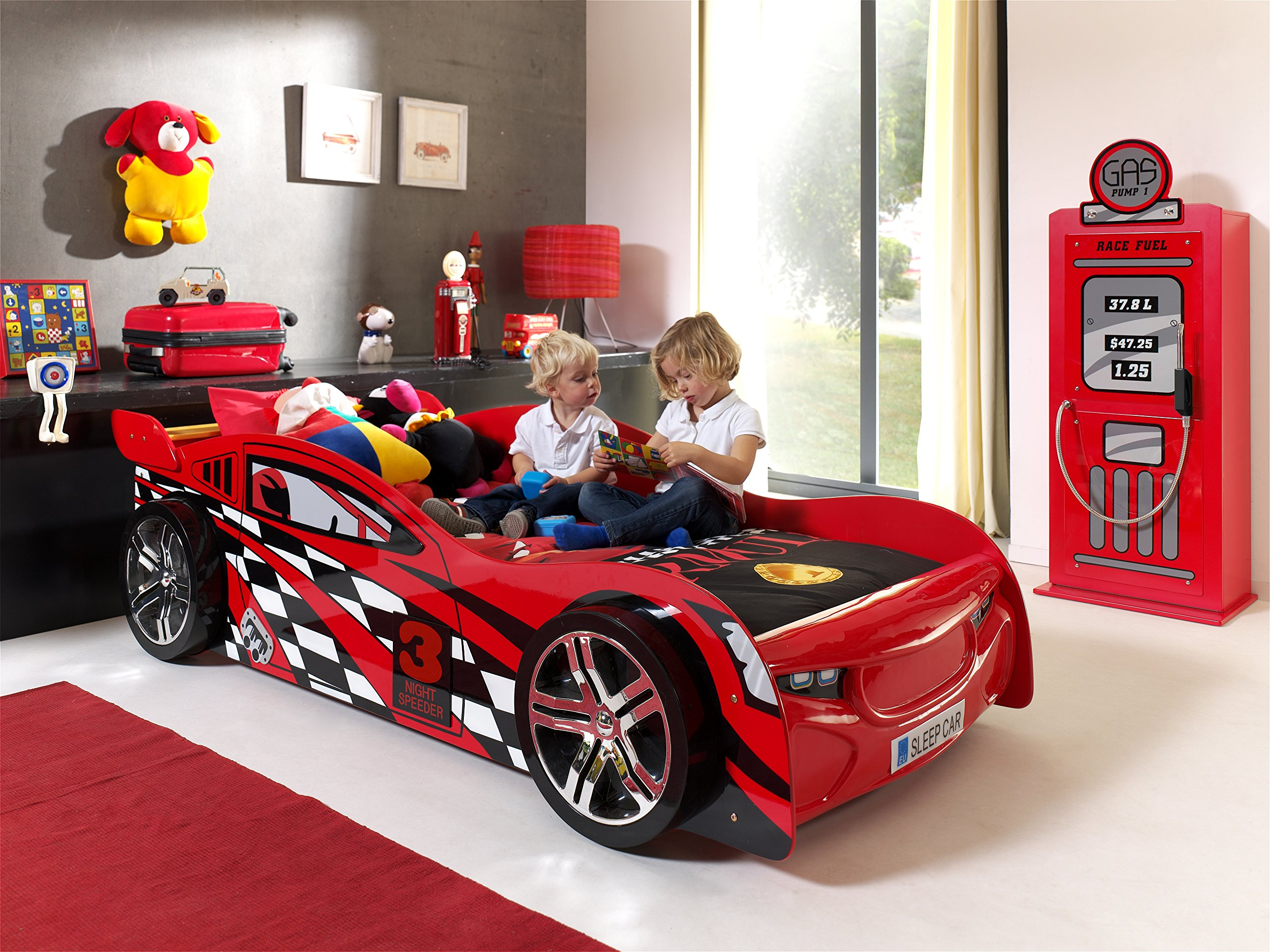 Night Speeder Car Bed with Slatted Frame Vipack Width: approximately 110 cm Height: approximately 60 cm Sleeping surface: approximately 90 x 200 cm 2