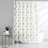 Amazon Brand - Solimo Celadon 100% PEVA Shower Curtain, 72 inch x 79 inch, Green