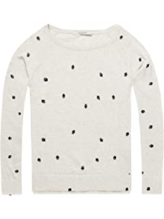 Scotch /& Soda Maison Womens Long Sleeve Pull With Various Allover Prints Jumper Multicolour Large Combo C 19