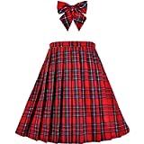 Sunny Fashion Ragazze Gonna Back School Uniforme Rosso Tartan Gonna 6-14 Anni