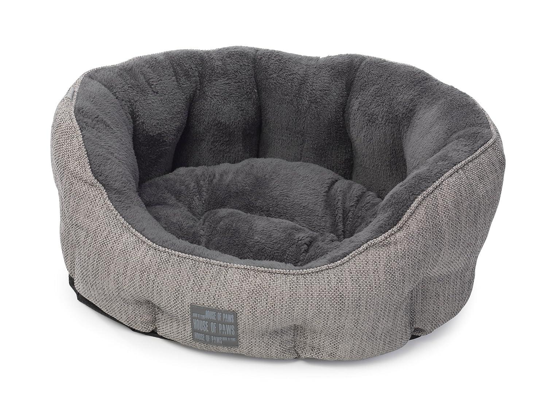 house of paws hessian oval dog bed medium grey amazoncouk  - house of paws hessian oval dog bed medium grey amazoncouk pet supplies
