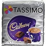 Tassimo Cadbury Saveur Chocolat, Cacao, Chocolat, Capsules, 8 T-Discs / Portions