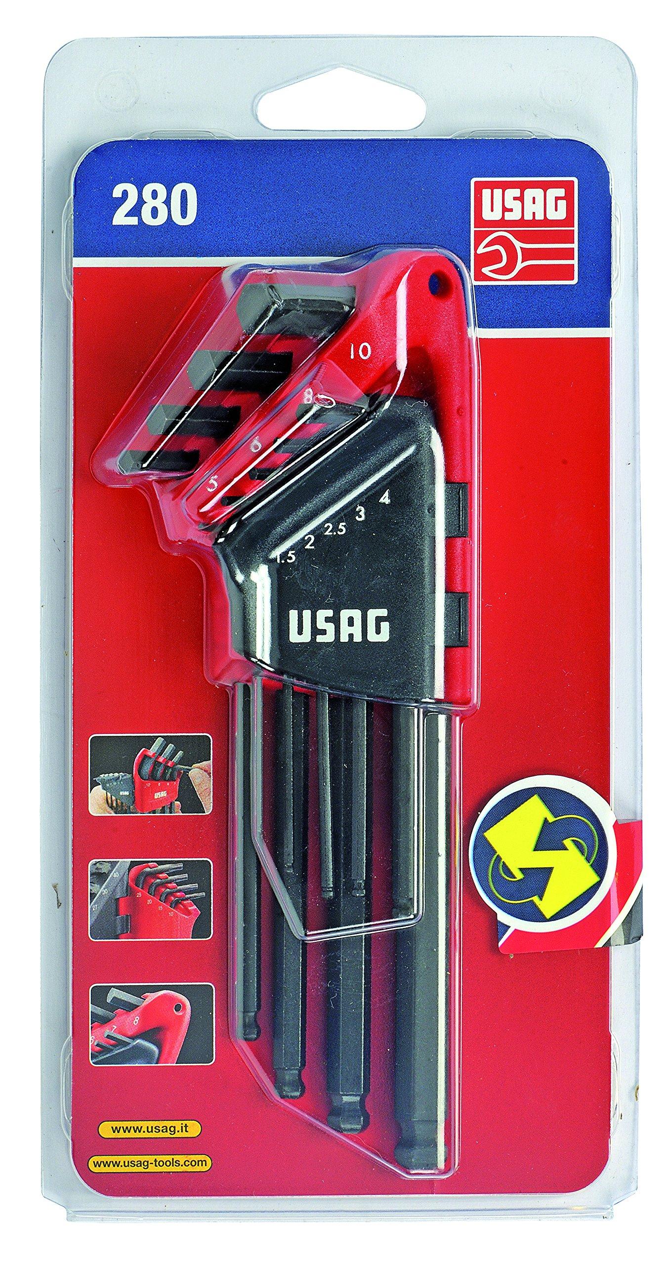 USAG-280-LTSS9-U02800084-Serie-di-9-Chiavi-Maschio-Esagonale-Lunghe-Testa-Sferica